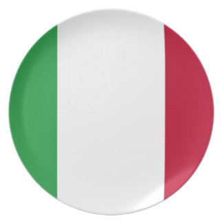 Low Cost! Italy Flag Plate