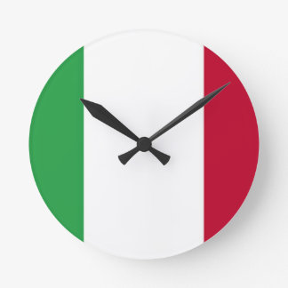 Low Cost! Italy Flag Round Clock