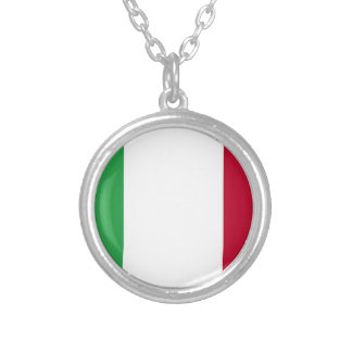 Low Cost! Italy Flag Silver Plated Necklace