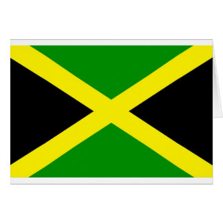 Low Cost! Jamaica Flag Card