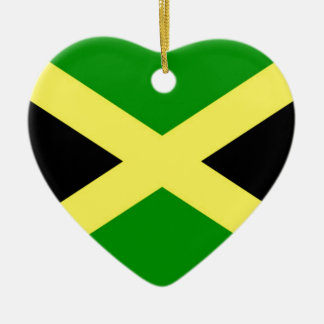 Low Cost! Jamaica Flag Ceramic Heart Ornament