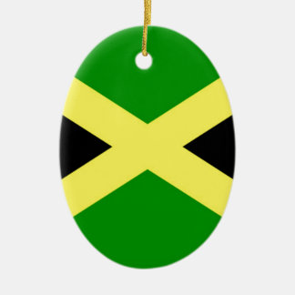 Low Cost! Jamaica Flag Ceramic Oval Ornament