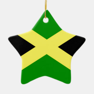 Low Cost! Jamaica Flag Ceramic Star Ornament