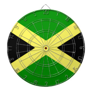Low Cost! Jamaica Flag Dartboard