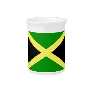 Low Cost! Jamaica Flag Pitcher