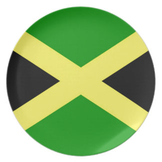 Low Cost! Jamaica Flag Plate