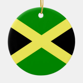 Low Cost! Jamaica Flag Round Ceramic Ornament