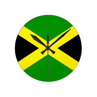 Low Cost! Jamaica Flag Round Clock