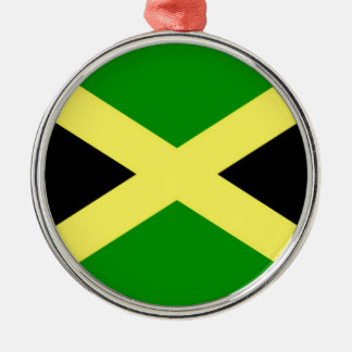 Low Cost! Jamaica Flag Silver-Colored Round Ornament