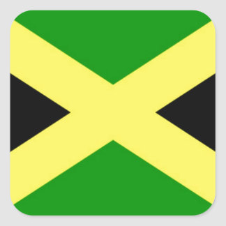 Low Cost! Jamaica Flag Square Sticker