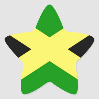 Low Cost! Jamaica Flag Star Sticker