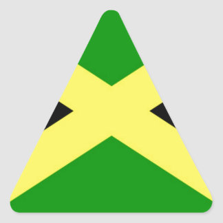 Low Cost! Jamaica Flag Triangle Sticker