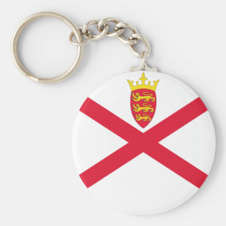 Low Cost! Jersey Flag Basic Round Button Keychain
