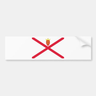 Low Cost! Jersey Flag Bumper Sticker