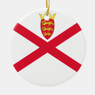 Low Cost! Jersey Flag Ceramic Ornament