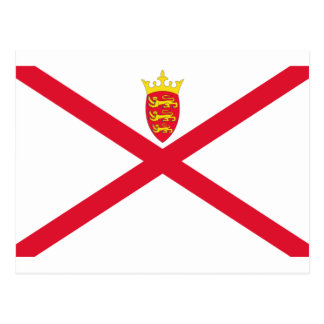 Low Cost! Jersey Flag Postcard