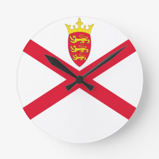 Low Cost! Jersey Flag Round Clock