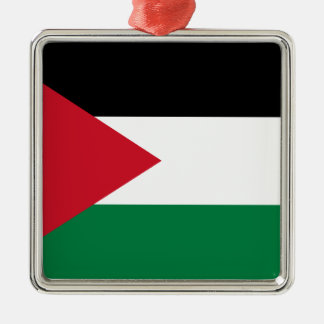 Low Cost! Jordan Flag Silver-Colored Square Ornament