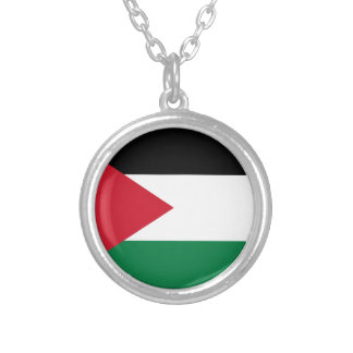 Low Cost! Jordan Flag Silver Plated Necklace
