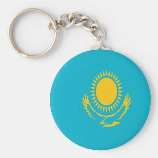Low Cost! Kazakhstan Flag Basic Round Button Keychain