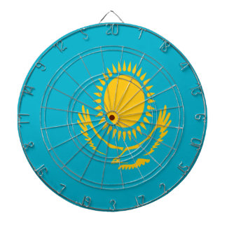 Low Cost! Kazakhstan Flag Dartboard With Darts