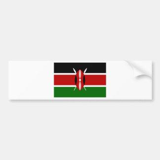 Low Cost! Kenya Flag Bumper Sticker
