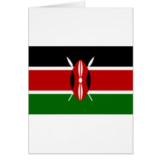 Low Cost! Kenya Flag Card