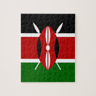 Low Cost! Kenya Flag Jigsaw Puzzle