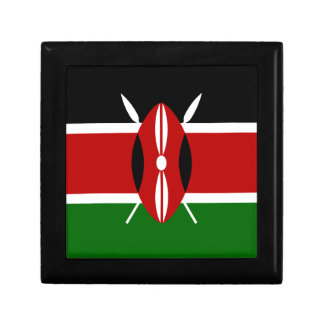 Low Cost! Kenya Flag Keepsake Box