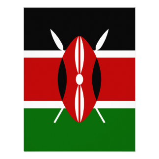 Low Cost! Kenya Flag Letterhead