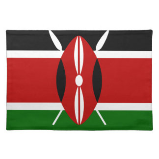 Low Cost! Kenya Flag Placemat
