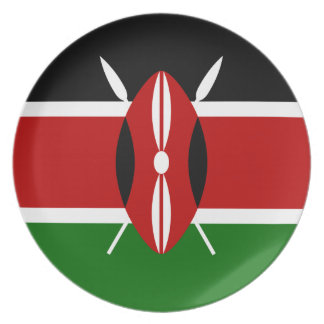 Low Cost! Kenya Flag Plate