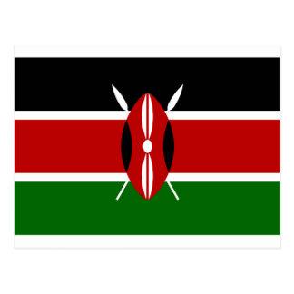 Low Cost! Kenya Flag Postcard