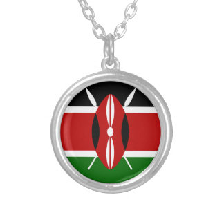 Low Cost! Kenya Flag Silver Plated Necklace