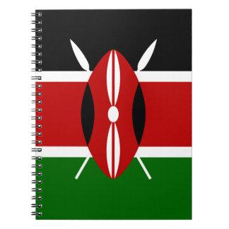 Low Cost! Kenya Flag Spiral Notebook