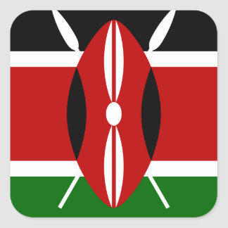 Low Cost! Kenya Flag Square Sticker