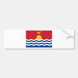 Low Cost! Kiribati Flag Bumper Sticker