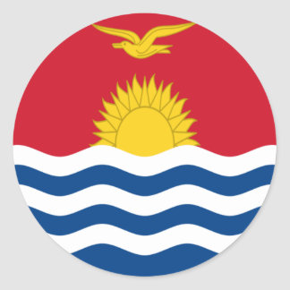 Low Cost! Kiribati Flag Classic Round Sticker