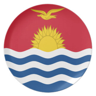 Low Cost! Kiribati Flag Dinner Plates