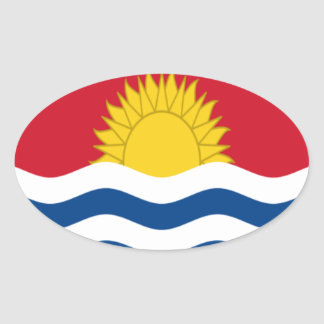 Low Cost! Kiribati Flag Oval Sticker