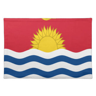 Low Cost! Kiribati Flag Place Mat
