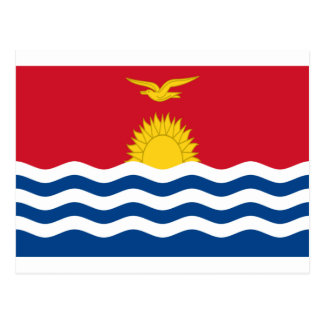 Low Cost! Kiribati Flag Postcard