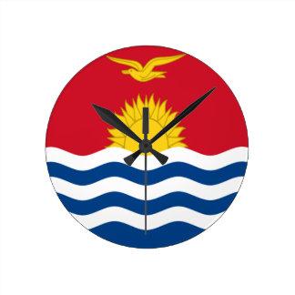 Low Cost! Kiribati Flag Round Clock