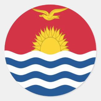 Low Cost! Kiribati Flag Round Sticker