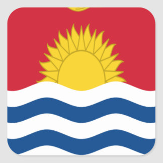 Low Cost! Kiribati Flag Square Sticker