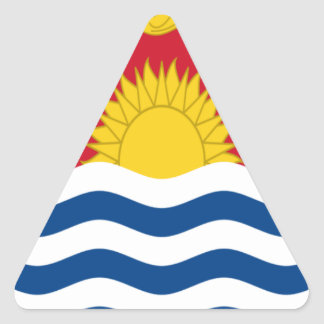 Low Cost! Kiribati Flag Triangle Sticker