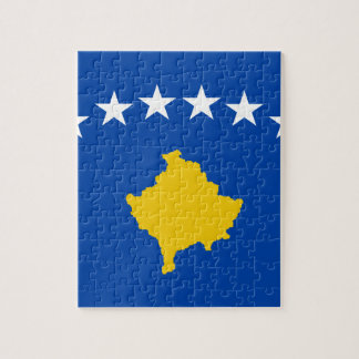 Low Cost! Kosovo Flag Jigsaw Puzzle