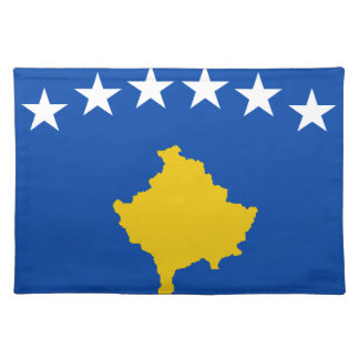 Low Cost! Kosovo Flag Placemat