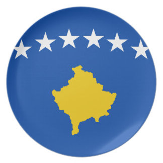 Low Cost! Kosovo Flag Plate