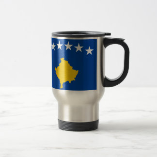 Low Cost! Kosovo Flag Travel Mug